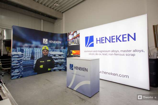 Rounded exhibition stand 5x3m - Heneken