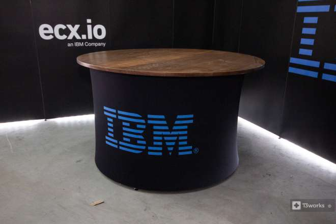 Round Textile Table - IBM