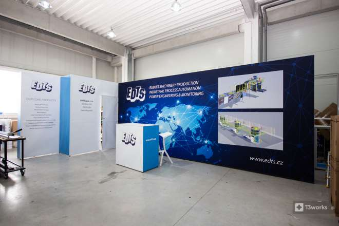 Exhibition stand Tower 7x3m with textile printing