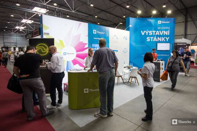 Messestand T3works - Messe Polygraf 2016